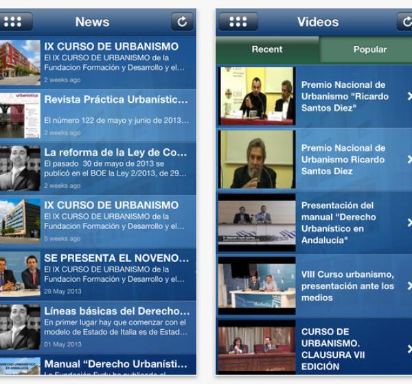 Ya es posible tener el contenido de la Revista de Urbanismo en tu móvil