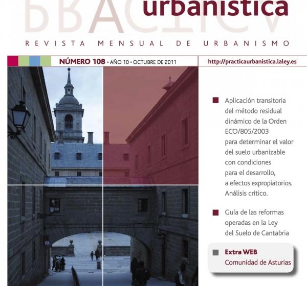 Revista Práctica Urbanística. Artículo sobre la aplicación transitoria del método residual dinámico de la Orden Eco/805/2003. D. Enrique Porto Rey