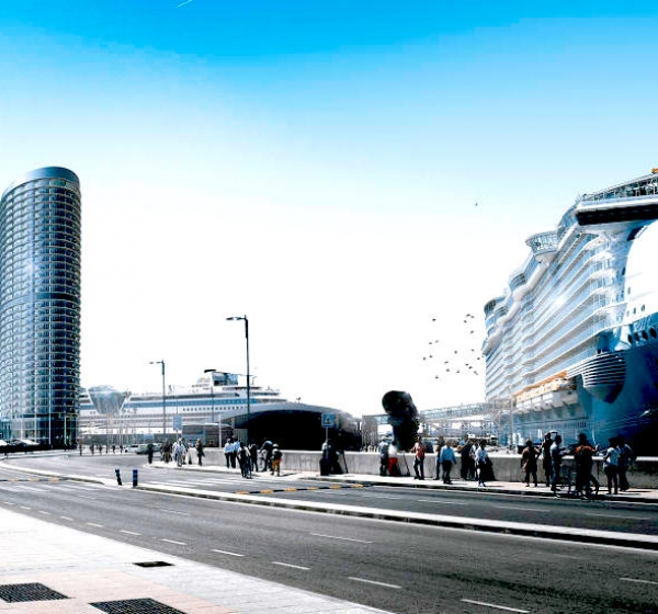 La Confederación de Empresarios deMálaga apoya el proyecto del hotel de lujo del Puerto